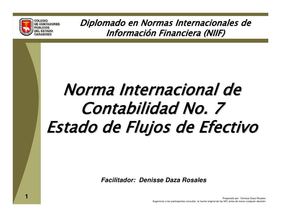 Diplomado en Normas Internacionales de               Información Financiera (NIIF)           Norma Internacional de       ...