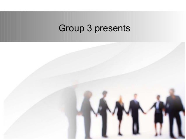 Group 3 presents
