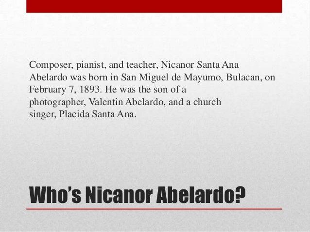 Nicanor abelardo Slide 2