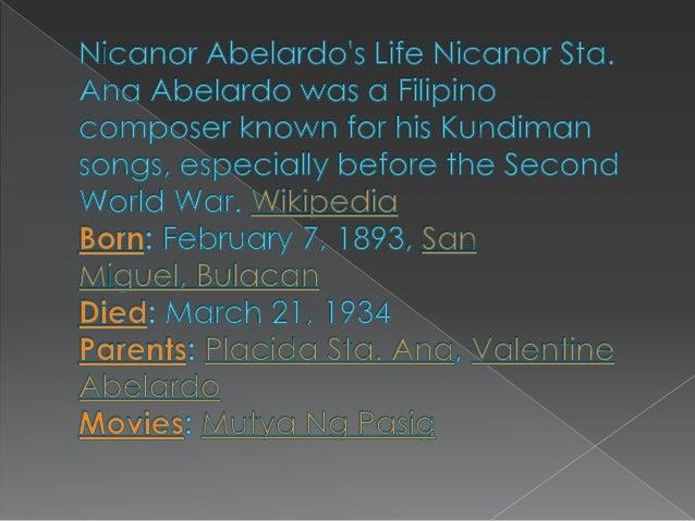 Nicanor abelardo 2 Slide 2