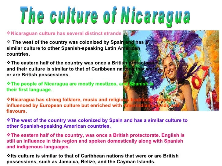 an introduction to the culture and society in nicaragua Nicaragua must take more decisive measures to prevent the hiv/aids epidemic  the range of available prevention services is also limited by cultural norms,.