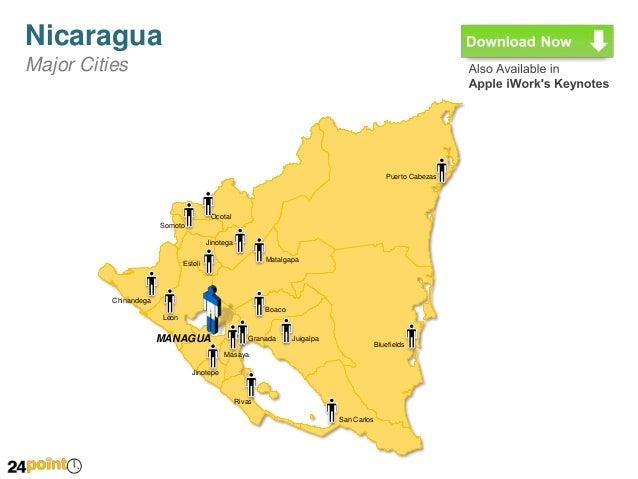 Nicaragua Map Complete Set - Nicaragua map download