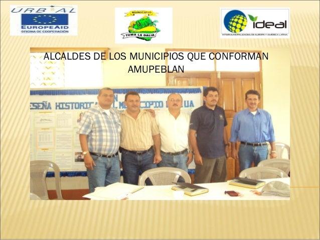 ALCALDES DE LOS MUNICIPIOS QUE CONFORMANAMUPEBLAN