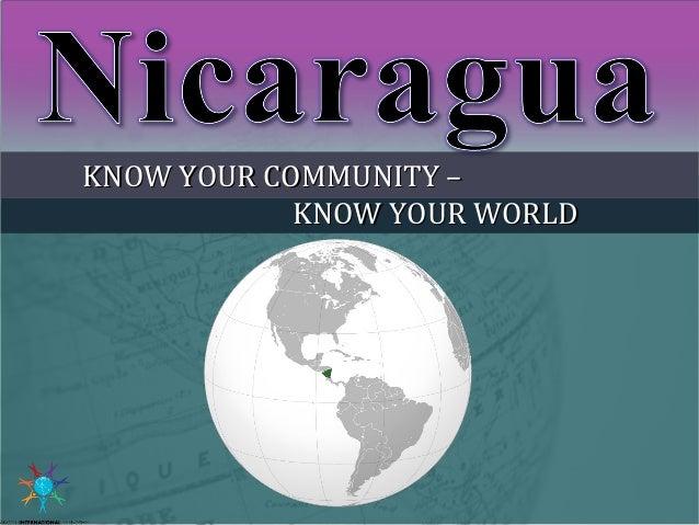 KNOW YOUR COMMUNITY –KNOW YOUR COMMUNITY – KNOW YOUR WORLDKNOW YOUR WORLD