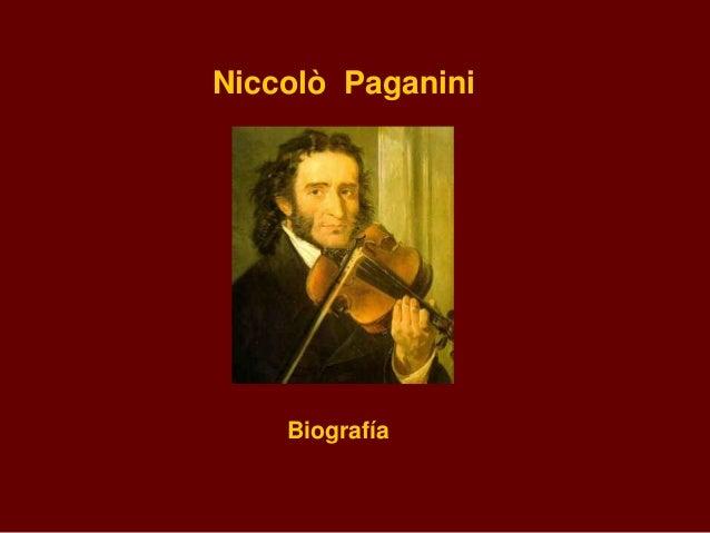 Niccolò Paganini    Biografía