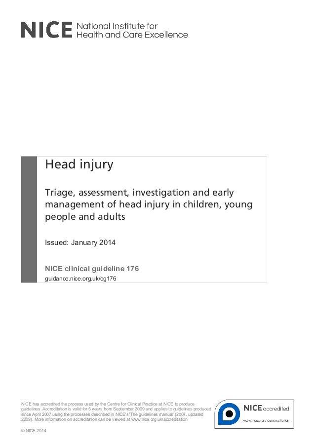 Nice 14 head injury
