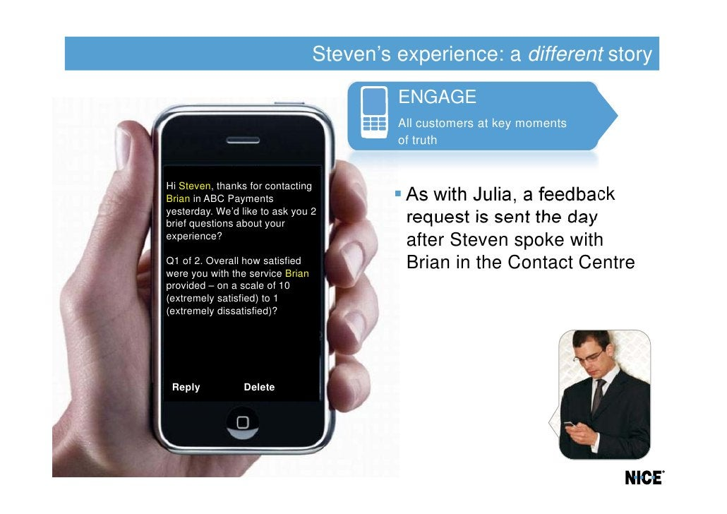 Steven's experience: a different story                                           ENGAGE                                   ...