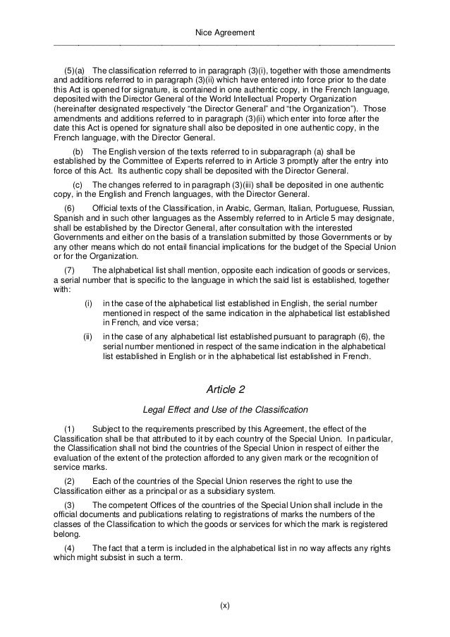 Nice Agreement  __________________________________________________________________________________  Article 3  Committee o...