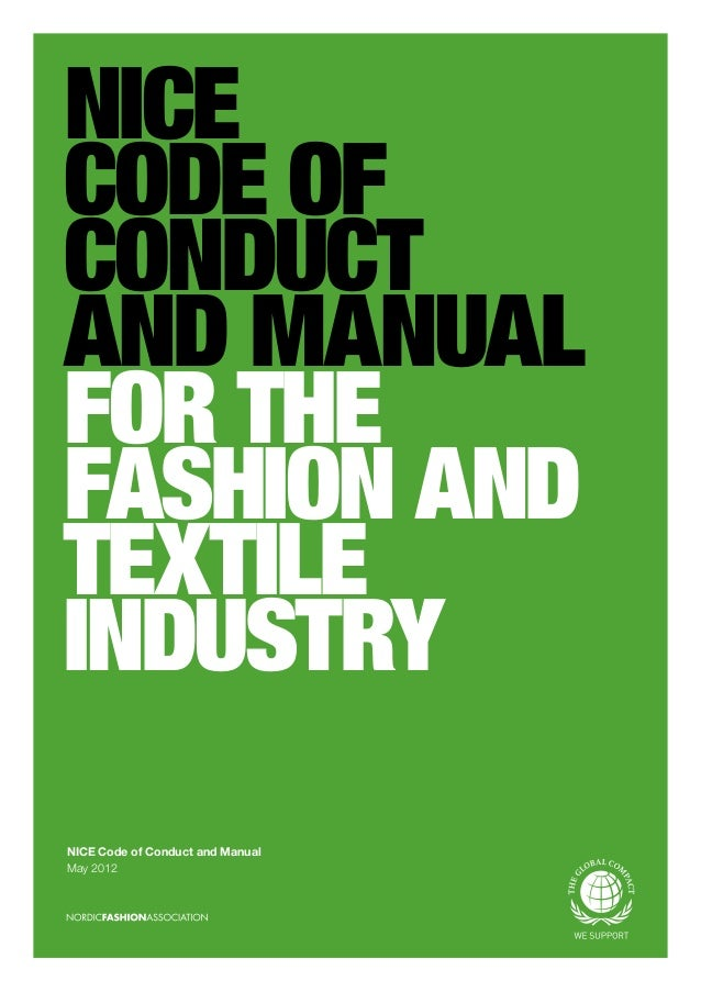 Nice Nordic Initiative Clean And Ethical Fashion Code Of Conduct An