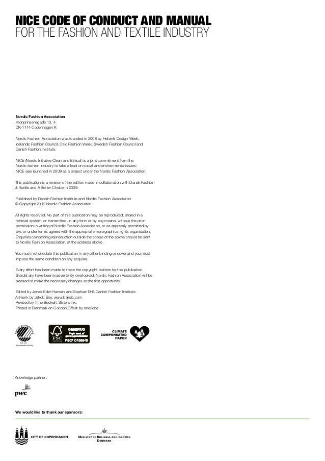 Code of ethics for fashion industry 61