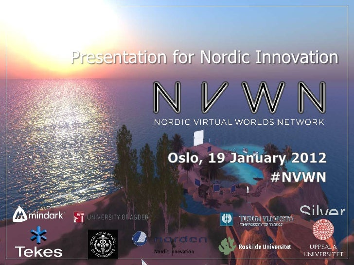 Presentation for Nordic Innovation