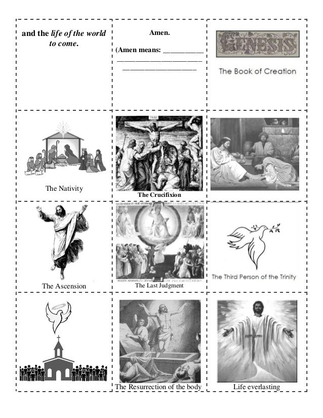 Nicene creed booklet pages
