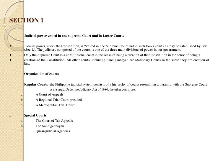 Judicial system essays