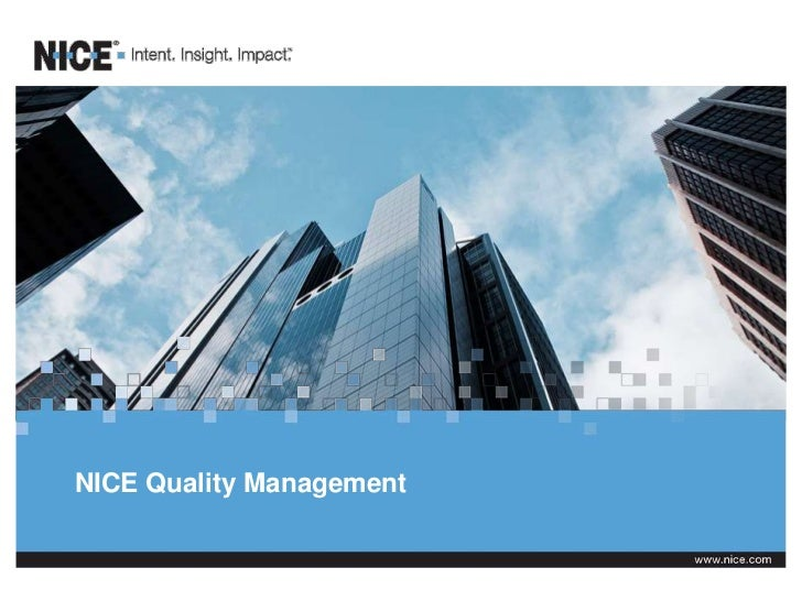 NICE Quality Management
