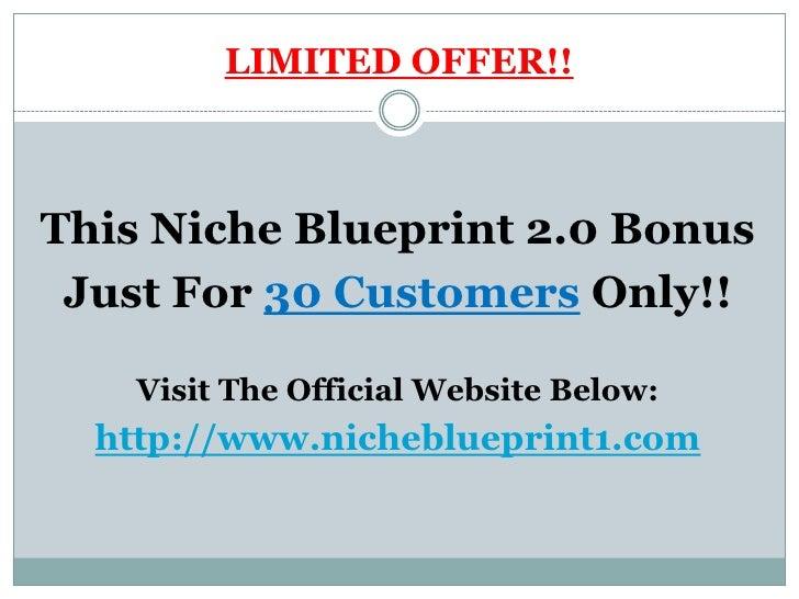 Niche Blueprint 2.0 Bonus Slide 2