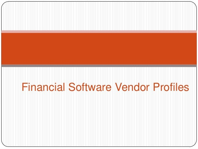 Financial Software Vendor Profiles