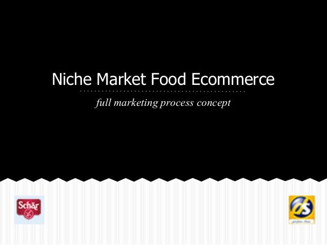 Niche Market Food Ecommerce full marketing process concept