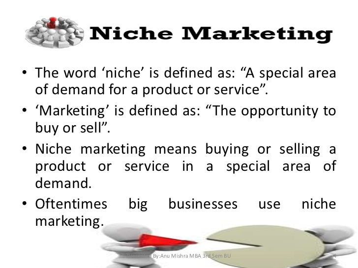 What are niche products examples.