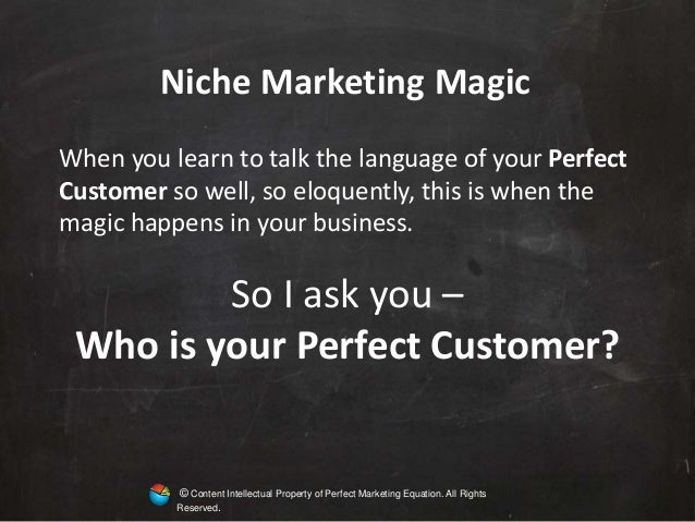 Niche Marketing and Customer Involvement Presentation