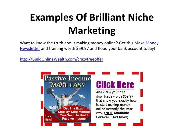 Niche Marketing Examples