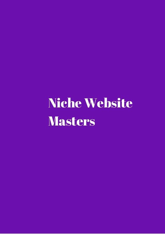 Niche Website  Masters