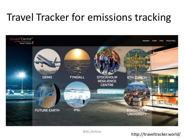 Travel Tracker for emissions tracking http://traveltracker.world/ @KA_Nicholas