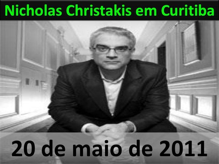 Nicholas Christakis em Curitiba20 de maio de 2011