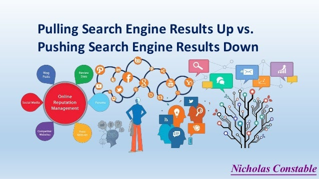 Pulling Search Engine Results Up vs. Pushing Search Engine Results Down Nicholas Constable