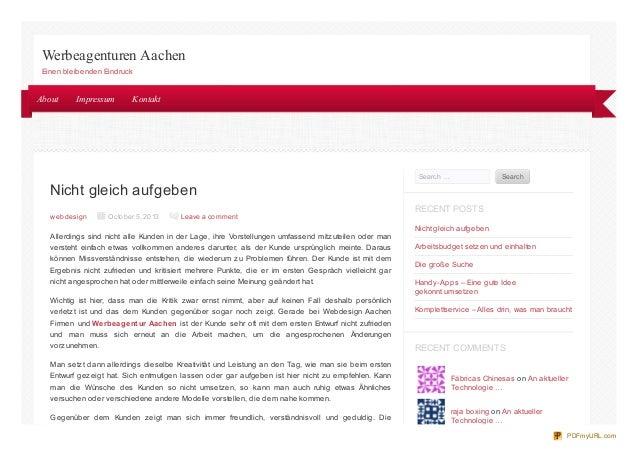 Nicht gleich aufgeben web design October 5, 2013 Leave a comment Allerdings sind nicht alle Kunden in der Lage, ihre Vorst...