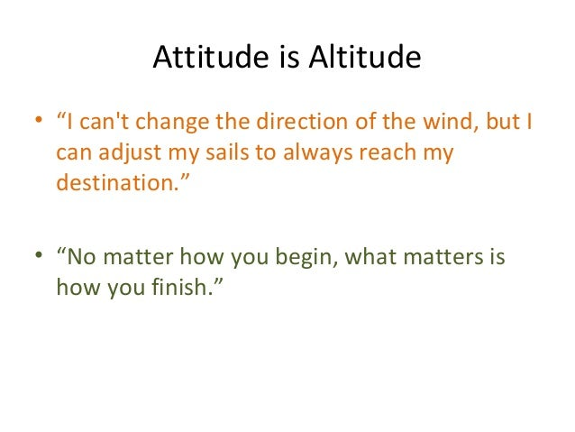 Attitude Is Altitude Th Class New Syllabus Nick Vujicic By Ravi Kum - What is altitude