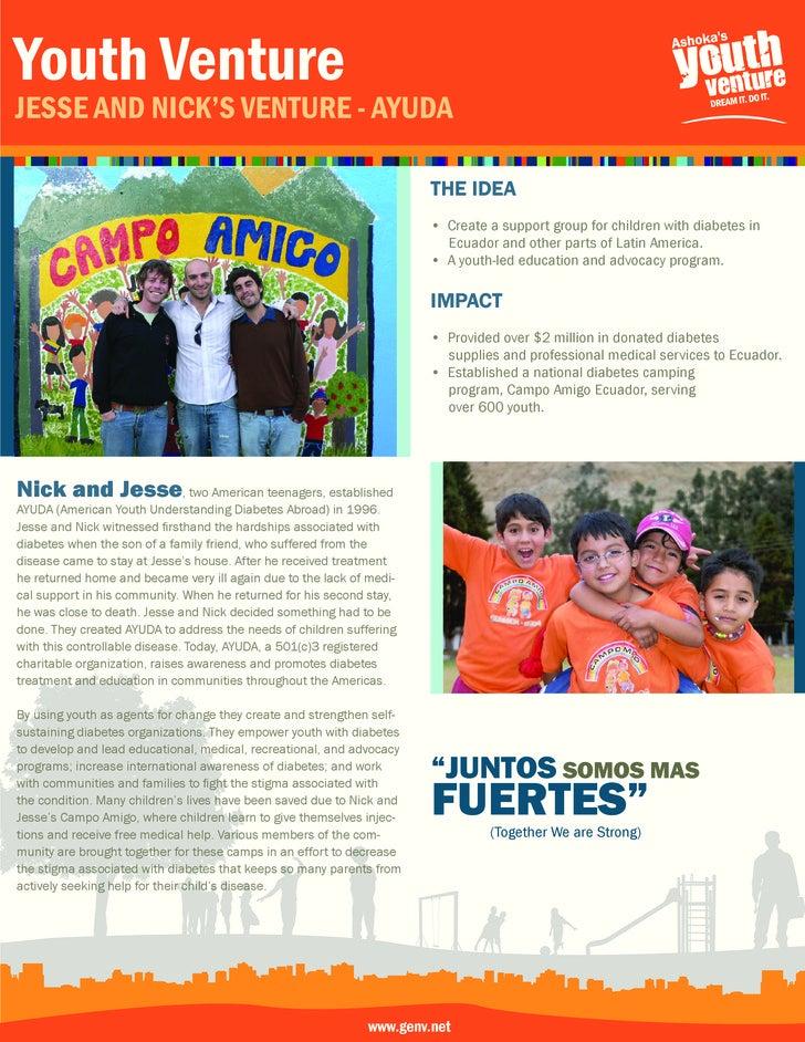Youth Venture Jesse and nick's Venture - aYuda                                                                         the...