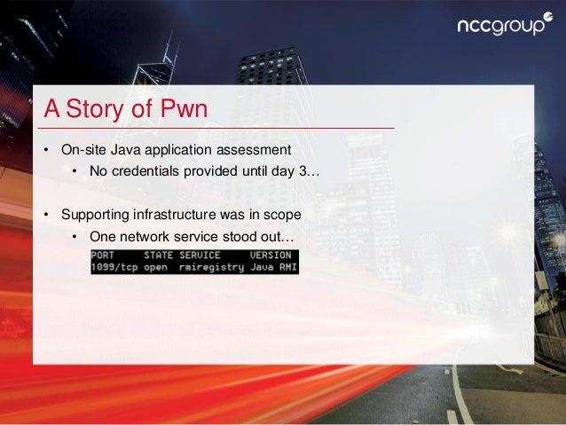 Nicky Bloor - BaRMIe - Poking Java's Back Door - 44CON 2017 Slide 3