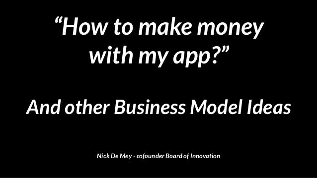 """How to make money