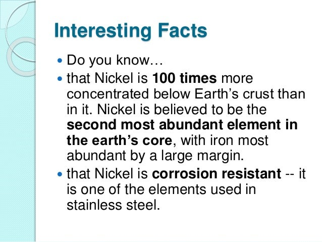 Nickel: A Corrosion-Resistant Element