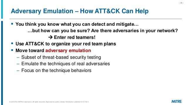 Adversary Emulation – How ATT&CK Can Help  You think you know what you can detect and mitigate… …but how can you be sure?...