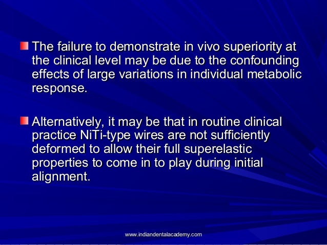 The failure to demonstrate in vivo superiority at the clinical level may be due to the confounding effects of large variat...