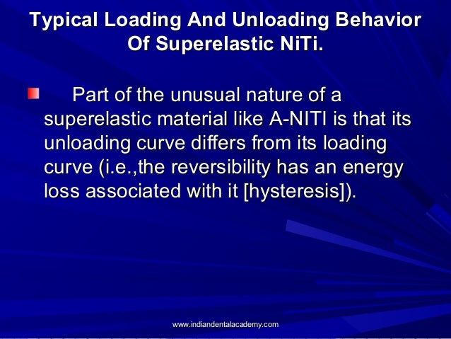 Typical Loading And Unloading Behavior Of Superelastic NiTi. Part of the unusual nature of a superelastic material like A-...