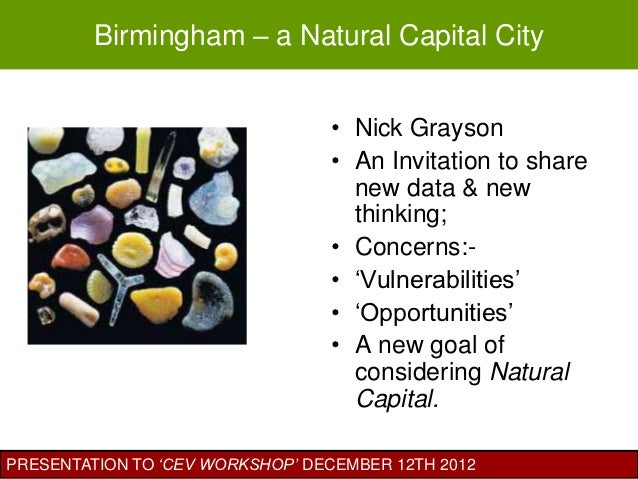 Birmingham – a Natural Capital City                                 • Nick Grayson                                 • An In...