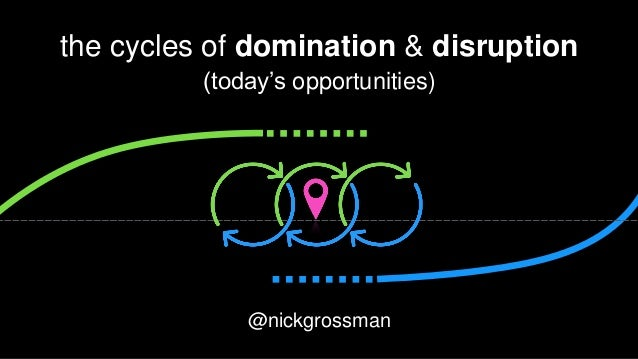 @nickgrossman the cycles of domination & disruption (today's opportunities) @nickgrossman