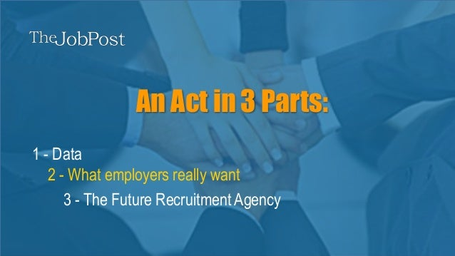 thejobpost.co.uk | Connecting employers and recruiters An Act in 3 Parts: 2 - What employers really want 1 - Data 3 - The ...