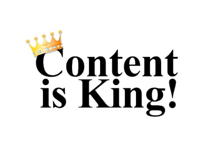 Content is King!            Supporting sponsor for International Trade Awards             What is 'Content'             ...