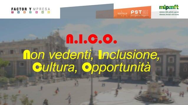 N.I.C.O. Non vedenti, Inclusione, Cultura, Opportunità