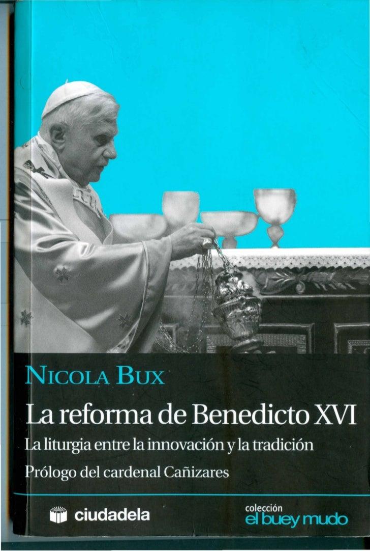 LA REFORMA DE BENEDICTO XVI- NICOLÁS BUX
