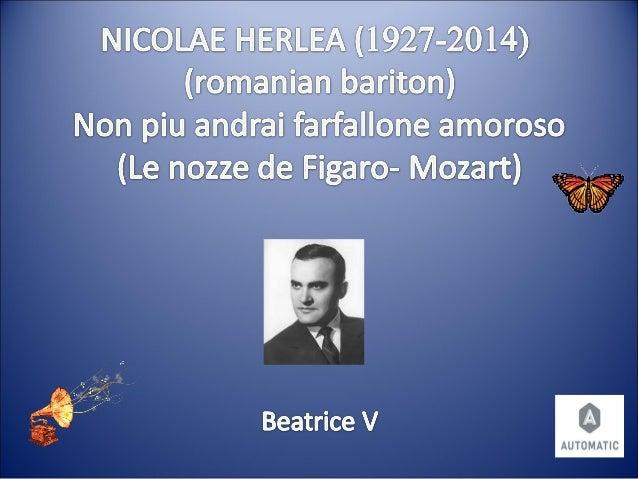 Nicolae herlea in memoriam