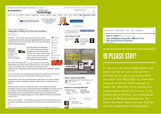 19 PLEASE STAY!Ein Besucher hat einen Artikel gelesen undlandet am Fuß der Seite. Und nun? Nunmöchten wir ihn gerne auf un...