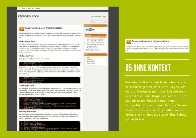 05 OHNE KONTEXTWer über Software und Tools schreibt, sol-lte nicht vergessen, deutlich zu sagen, umwelche Version es geht....