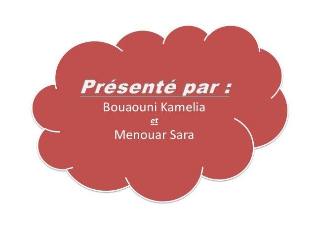 Bouaouni KameliaetMenouar Sara