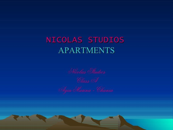 NICOLAS STUDIOS   APARTMENTS Nicolas Studios Class A Agia Marina - Chania
