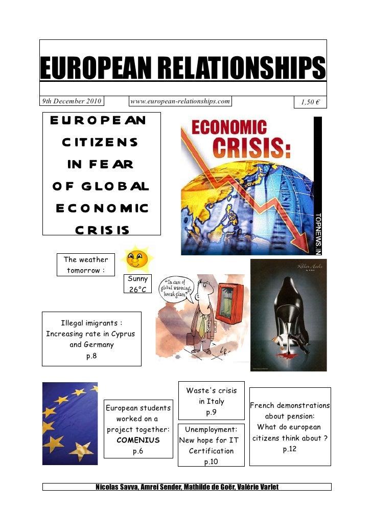 EUROPEAN RELATIONSHIPS9th December 2010         www.european-relationships.com                        1,50 €  E U R O P E ...
