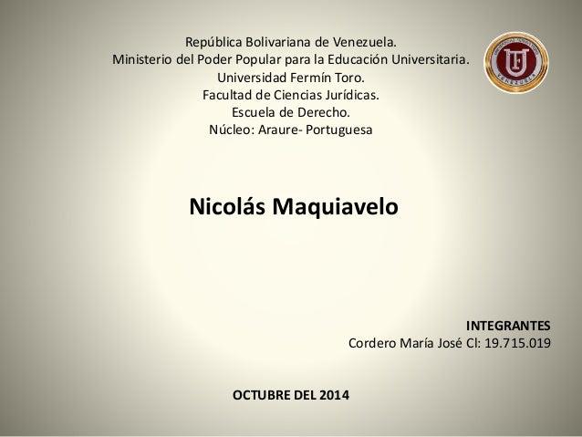 República Bolivariana de Venezuela.  Ministerio del Poder Popular para la Educación Universitaria.  Universidad Fermín Tor...